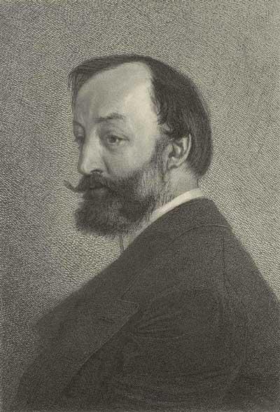 Gottfried Keller Kupferstich schwarz/weiss